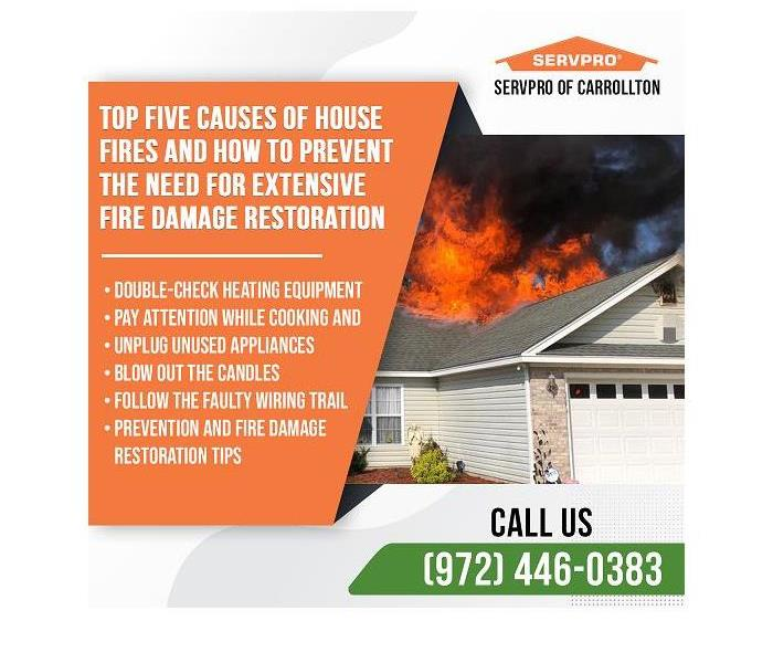 Here to Help advertisement with SERVPRO information